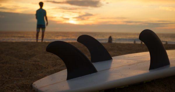 surfen welle glueck