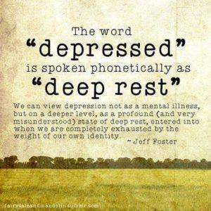 drepression and deep rest