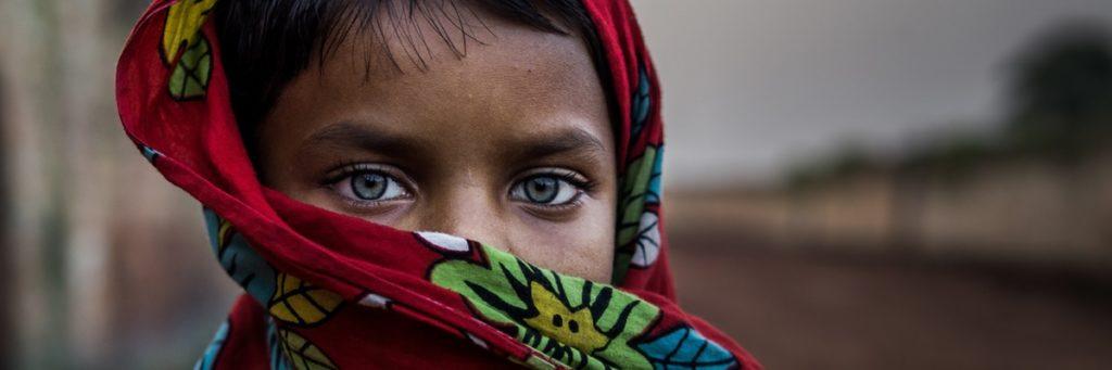 Augenkontakt Frau Indisch