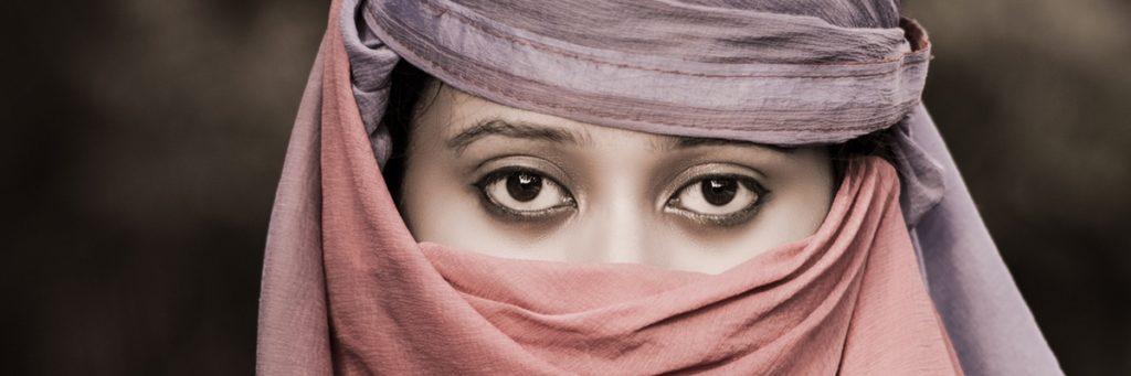 Augenkontakt Frau Pakistan