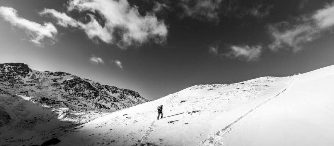 Mammutmarsch Beitragsbild Einsamer Wanderer